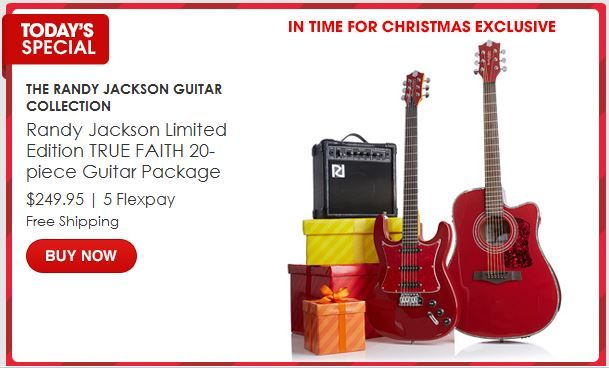 HSN ~ Randy Jackson Guitar Collection, a 20-pc guitar package, $249.95 or 5 payments of $49.99!