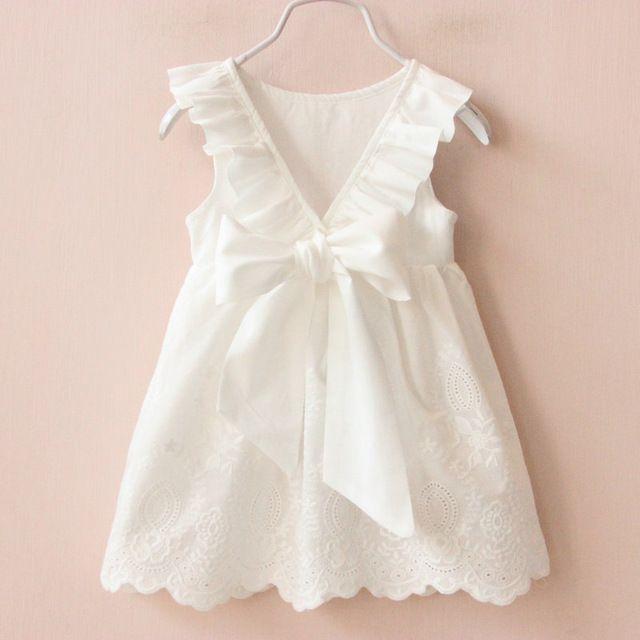 2016 Verano Nueva Princesa niños Vestido de la Muchacha Grande Del Arco Vestido de La Muchacha vestido de Ropa de Niños Niñas Vestido Infantis