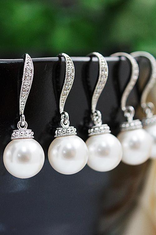 Swarovski Pearl Earrings from EarringsNation