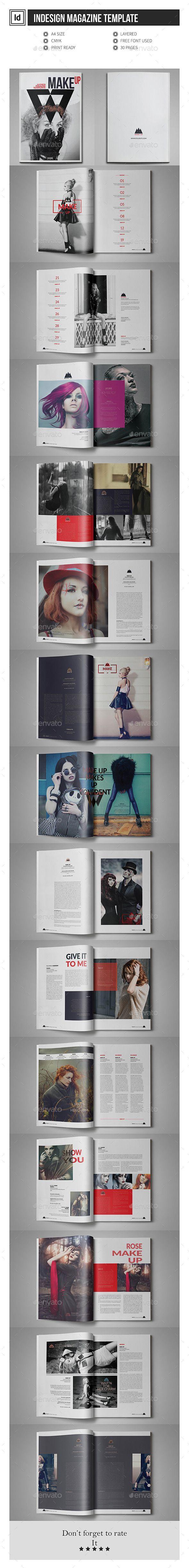Multipurpose InDesign Magazine Template #design Download: http://graphicriver.net/item/multipurpose-indesign-magazine-template/11904395?ref=ksioks