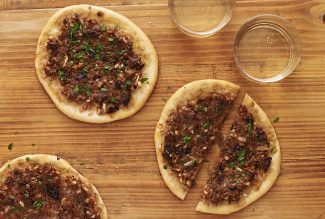 Individual Moroccan Pizzas- use buckwheat pizza base, tomato free Pizza topping if omit 2tbs ,paste