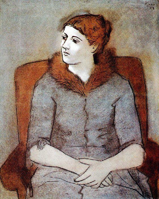 Picasso: Olga au col de fourrure (1923)