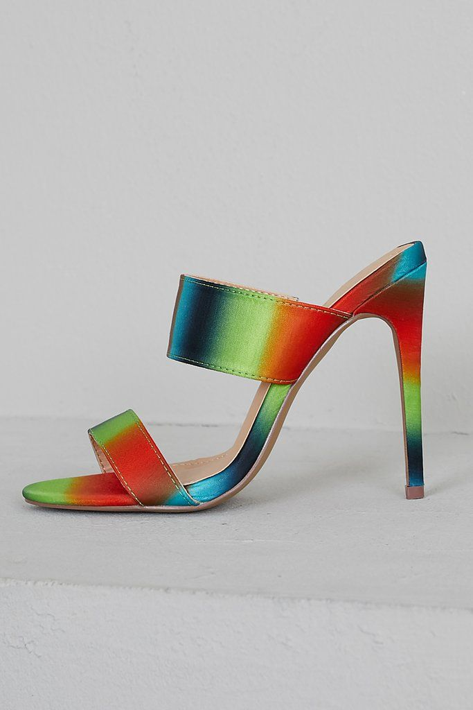 26667273a03 Sunset Multi Color Mules- FINAL in 2019   shoe addiction   Color ...