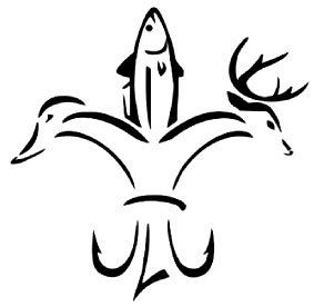 Fleur De Lis - Fish Duck Deer Hunting Fishing Vinyl Decal Sticker - 8BitThis.com - Officially Awesome!