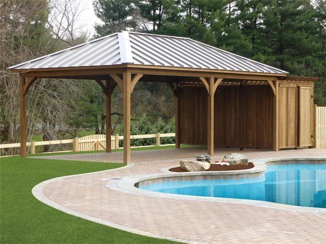 Custom Vinyl U0026 Wood Pavilions. Large BackyardBackyard IdeasBackyard ...