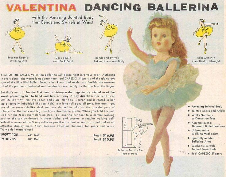 1956 Ad This Is Valentina By Valentine Who Was Available In A 20 And 25 Inch