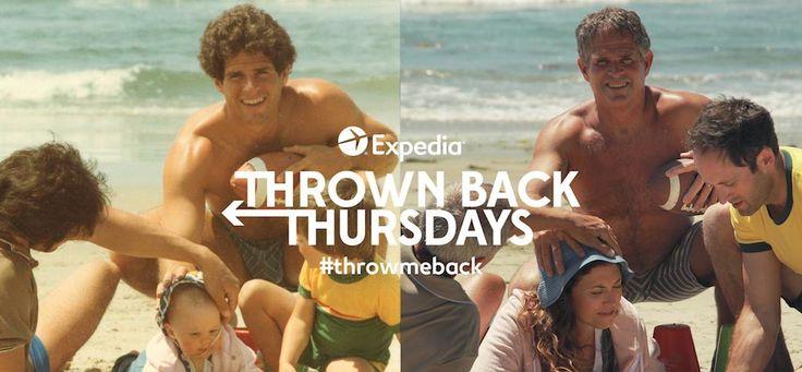 Expedia ti porta indietro nel tempo per ricreare il migliore #throwmeback