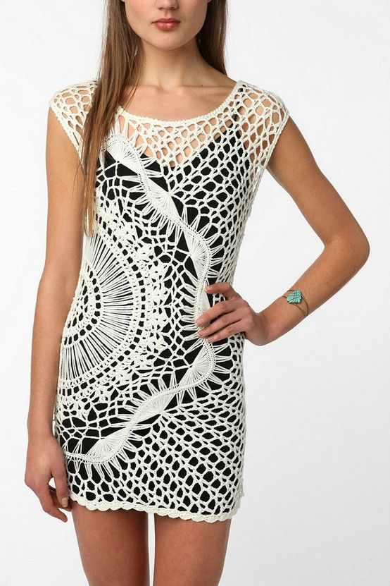 Hairpin Crochet Dress.  Sarah you will look lovely in this! Love future mom