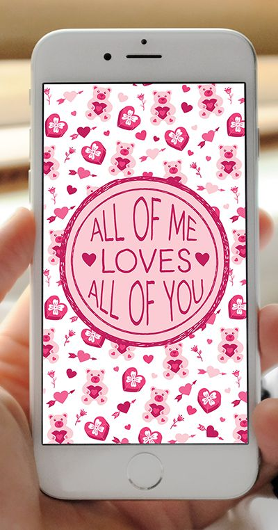 FREE Valentine's Day Love Quotes Phone Wallpapers - Set of 12