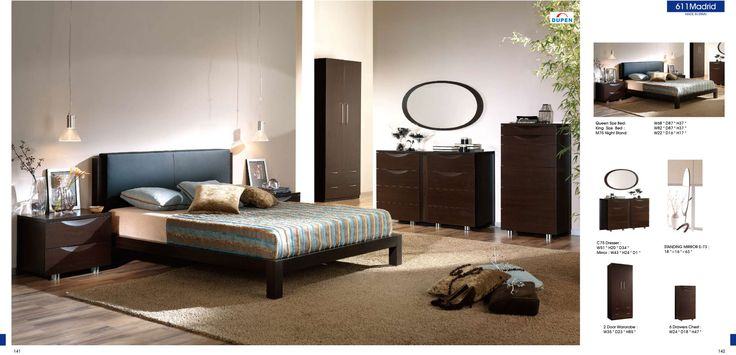 Bedroom  Furniture Modern  Bedrooms 611 Madrid, M75, C75