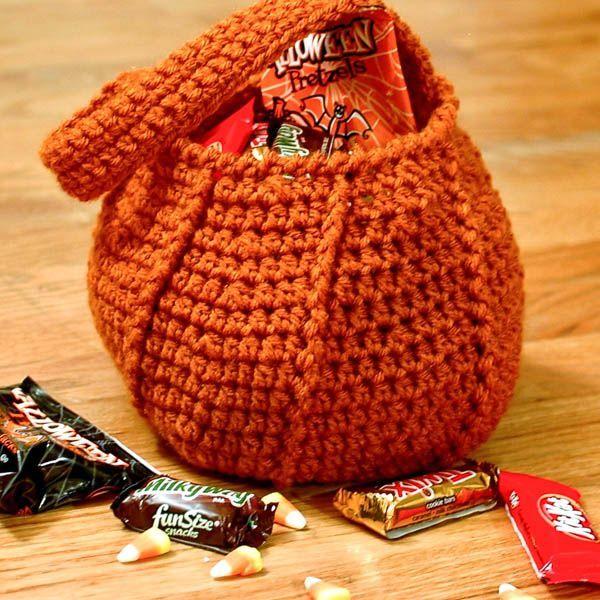 Pumpkin Trick or Treat Bag Halloween crochet pattern