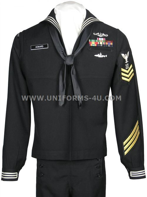 US Navy Enlisted Dress Blue Uniform (also known as the Crackerjack).