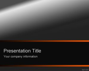 Dark orange PowerPoint template is a professional template slide for PowerPoint presentations with a nice background with gradient and orange touch