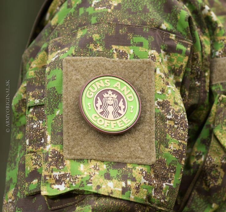 Nášivka Guns and Coffee multicam, JTG