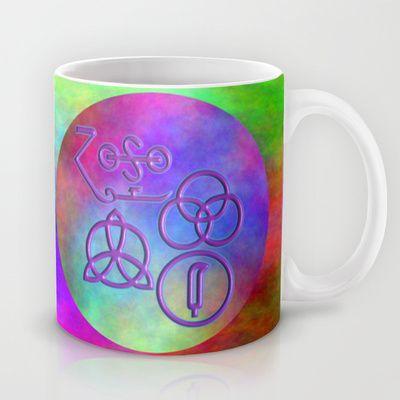 Rainbow Zeppelinism Symbols Mug by Sara PixelPixie - $15.00