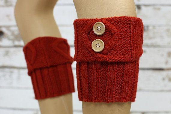 Lace Boot poignets - orange brûlé tricot botte haut de forme dentelle & boutons - dentelle manchette - jambières, chaussettes, tricot poignets de Boot de démarrage sur Etsy, $28.44 CAD