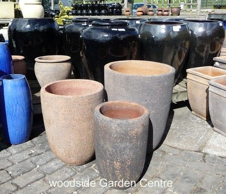 Large Old Stone Round U Planter Garden Pots | Woodside Garden Centre | Pots to Inspire