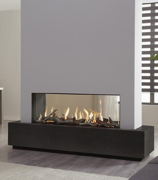 Description The see-through version of the Metro 130XT series can be fitted as a room divider separating two living areas. The fireplace has its own zigzag burner that can fill virtually the entire fireplace with fire. The choice of logs or pebbles is up to you. The new stainless steel remote control lets you operate the fireplace from your armchair.Features Brand: DRU Model: Built-in Fuel: Natural gas / propane Output (kW): 10.8 kW / 10.6 kW Combustion system: Closed Efficiency: 86%…