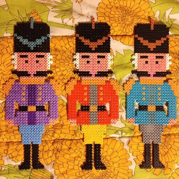 Nutcrackers hama perler beads by Binemor