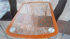 Стол обеденный GT-299C прямоугольный 1050х700х750 оранжевый