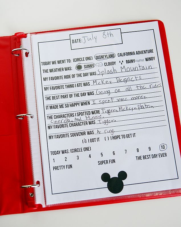 Free Printable Disney Journal