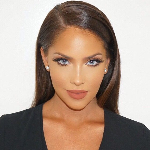 """Glam by Makeup By Ariel on Olivia Pierson using Lilly Lashes in style """"Istanbul"""" stacked with""""Sky High"""" Individuals"""