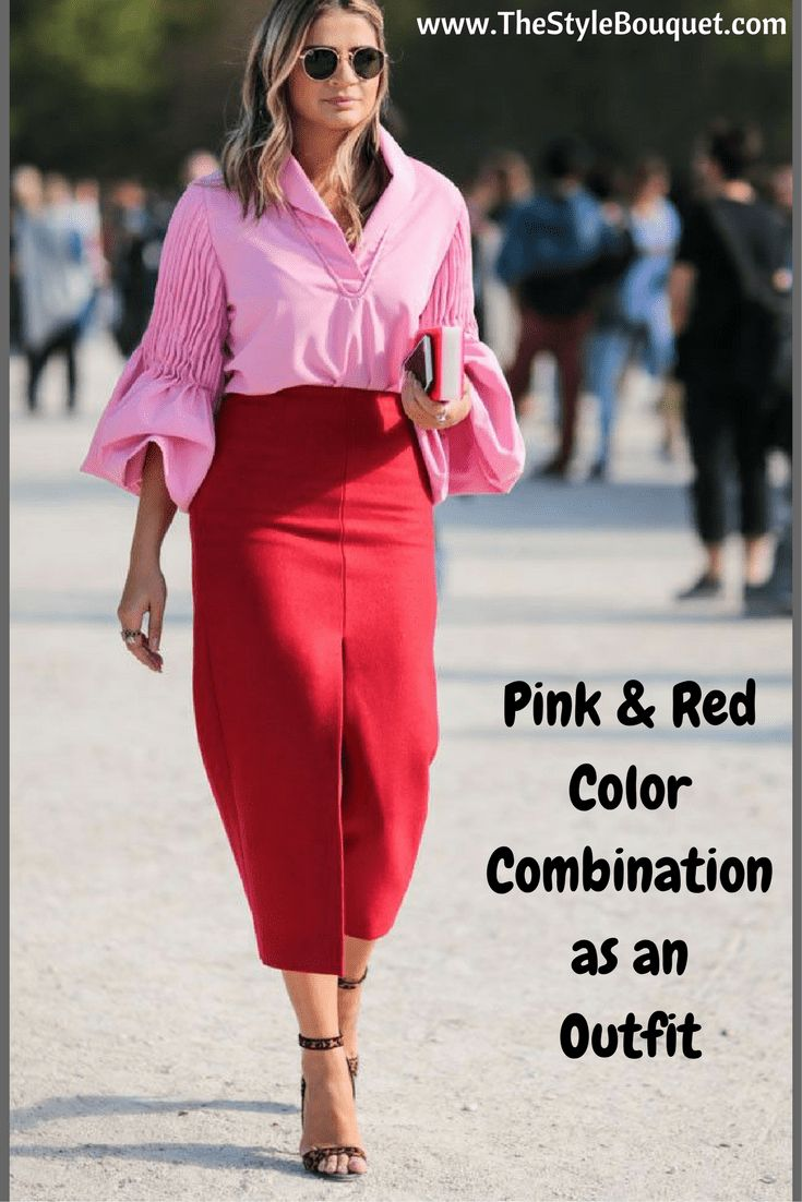 Pink & Red Mix & Match Outfit Combination