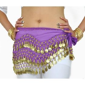 Purple Belly Dance Skirt With Gold Coins (Great Gift Idea),$6.08: Belly Dance, Gifts Ideas, Coins Belly, Dance Skirts, Dance Hip, Great Gifts, Chiffon Dangle, Hip Scarfs, Gold Coins