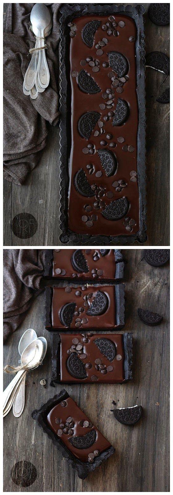 No Bake Chocolate Oreo Tart   Ingredients   Oreo crust:   300      g (10 oz) Oreo cookies  1/2      cup butter    Chocolate Cream filling...