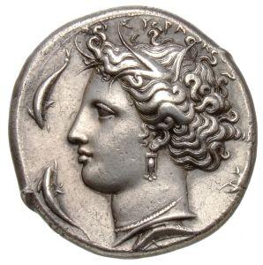 Decadracma - argento - Siracusa (405-395 a.C.) - testa di Aretusa con collana di perle, orecchini e diadema -  Münzkabinett Berlin