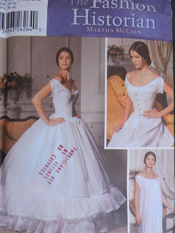 Corset Chemise Petticoat Lingerie Historical Simplicity 5726