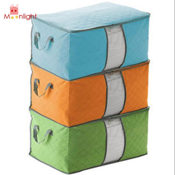 MELHOR Organizador de Roupas Não-tecido Caixa de armazenamento Caixa de Armazenamento de Roupas Colcha Edredon 3 Cores