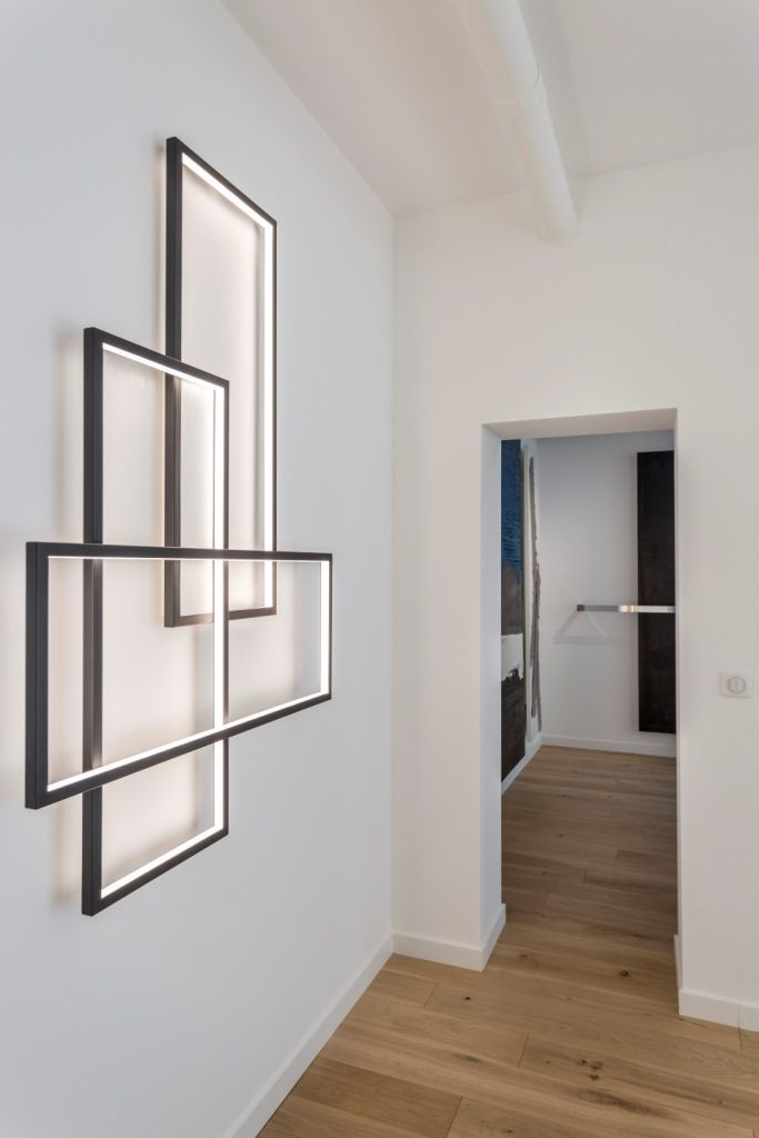17 best images about cinier lt luminaires led on pinterest wall lighting light walls and - Modern architectural trio ...