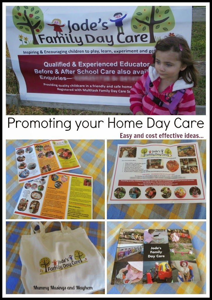 Mummy Musings and Mayhem: Ideas for promoting and advertising a home day care business.