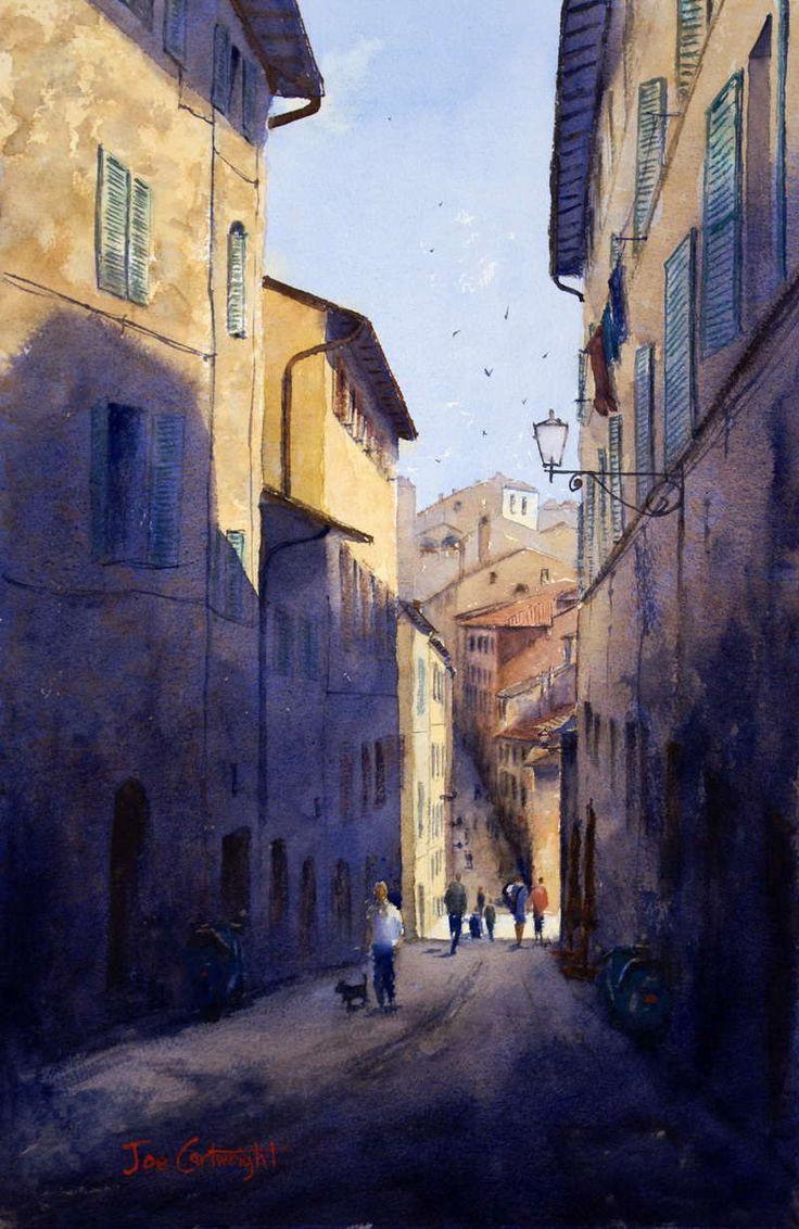 Watercolor artists directory wiki - Watercolor Paintings Street Scene Gallery Watercolour