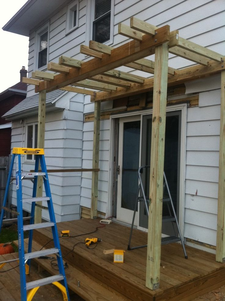 pergola over deck woodworking projects plans. Black Bedroom Furniture Sets. Home Design Ideas