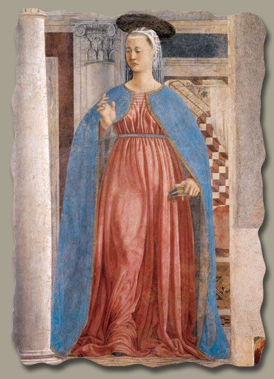 Piero della Francesca (1420-1492):  Annunciation (detail)