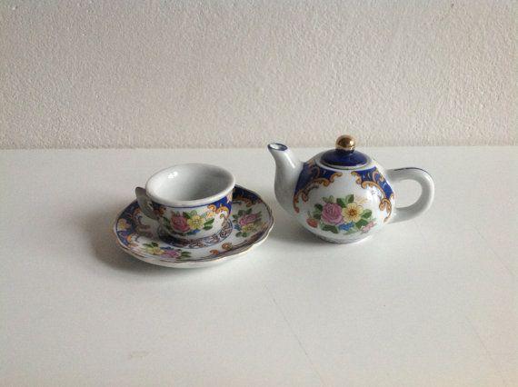 Home Decor Asian Tea Set Ceramic Tea set  Vintage от SashaStore, $20.00