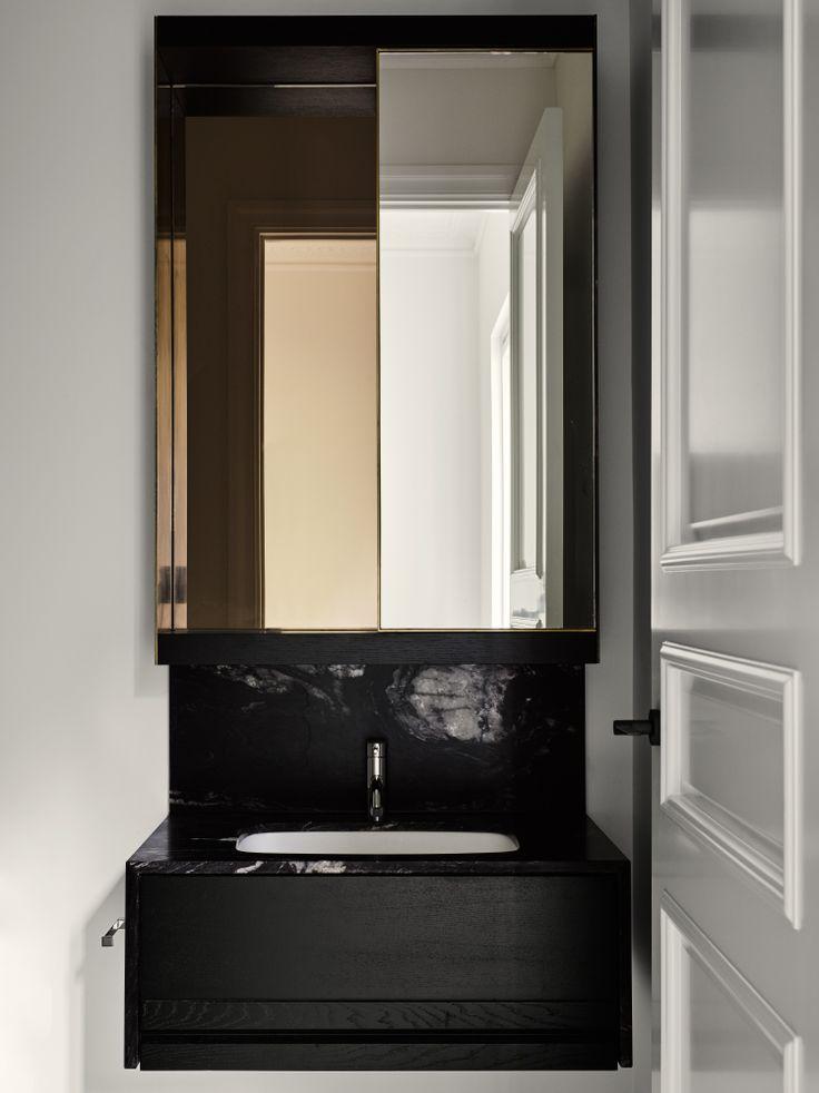 Clean, Moody Bath //  Photography: Brooke Holm Art Direction: Marsha Golemac