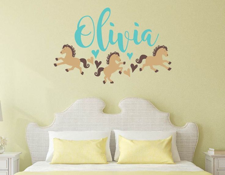 Horses Wall Decal Horses Little Girls Love Name Wall Decal Horse Wall Decal  Kids Nursery Wall Part 71