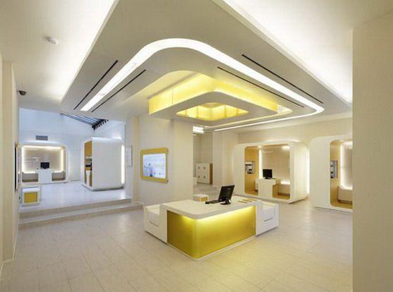 interior office design. Wonderful Interior Futuristic Banking Modern Interior Design Of CheBanca By Crea International  Decodir With Office