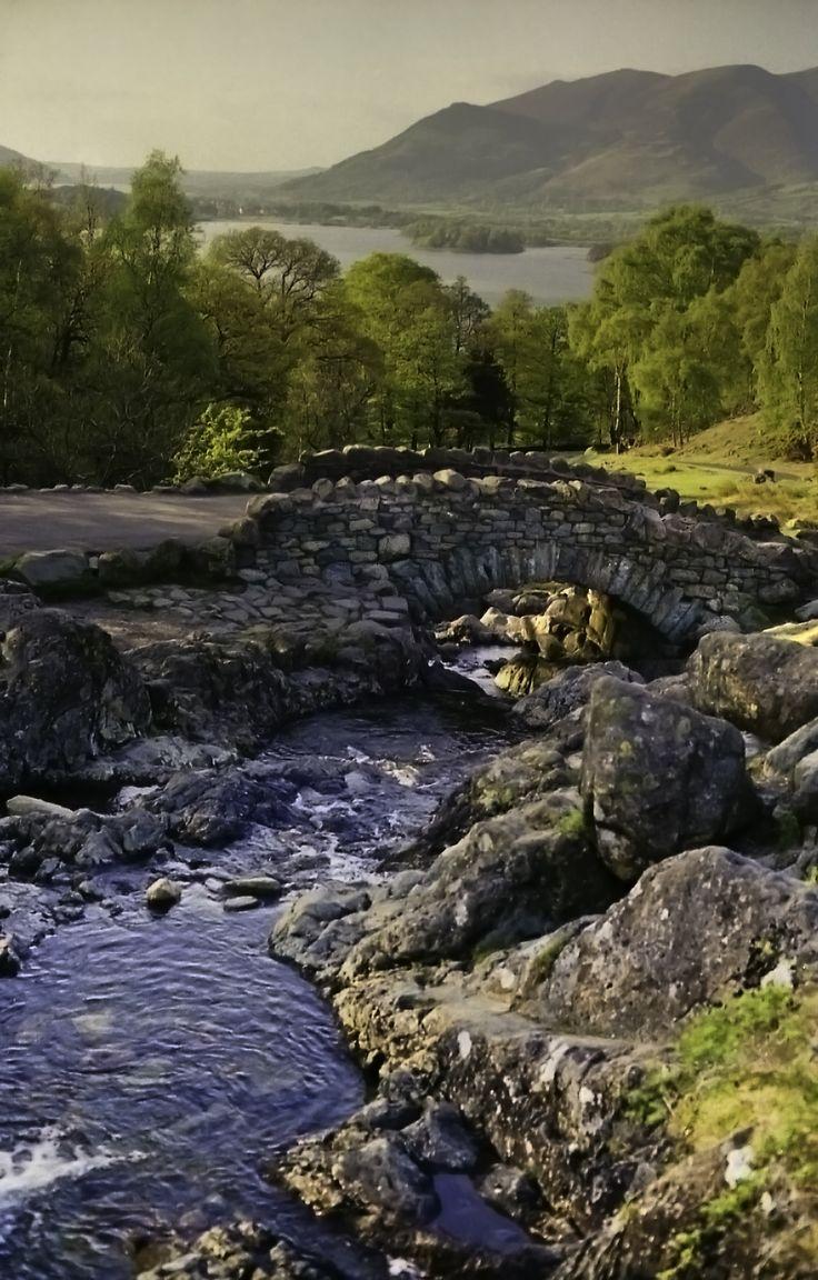 Lake District - Ashness Bridge. Love this stone bridge.