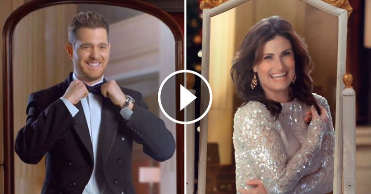 Michael Bublé & Idina Menzel Singing 'Baby It's Cold Outside' Will Warm Your Heart   Baby cold ...
