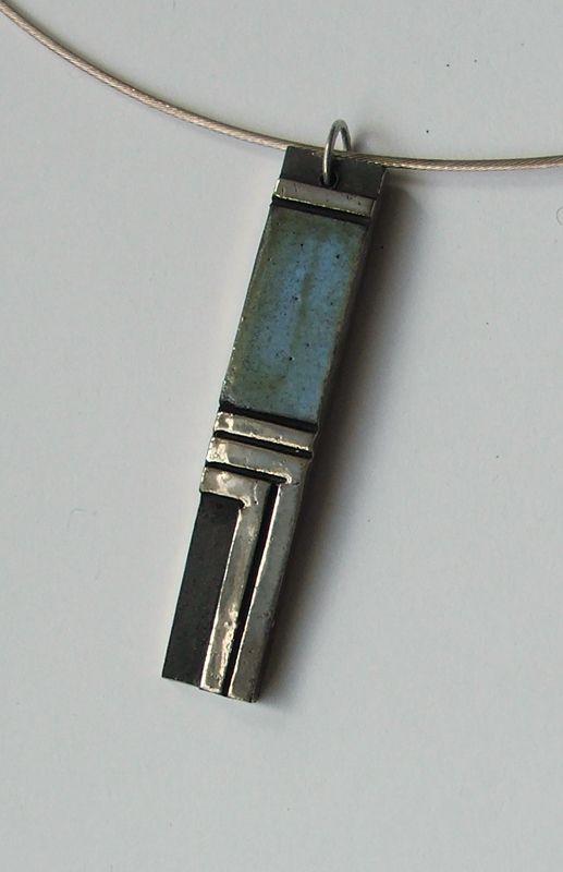 Raku pendant by Amanda Ray