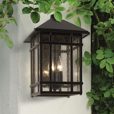"J du J Sierra Craftsman 15"" High Outdoor Wall Light - #25355   LampsPlus.com"