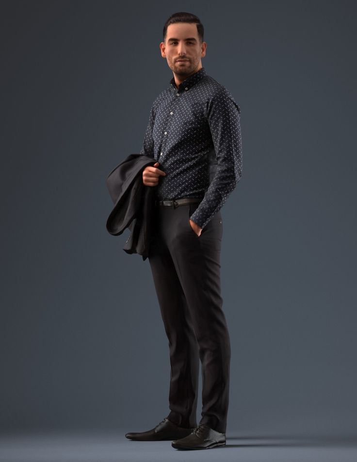 business man male 3d model