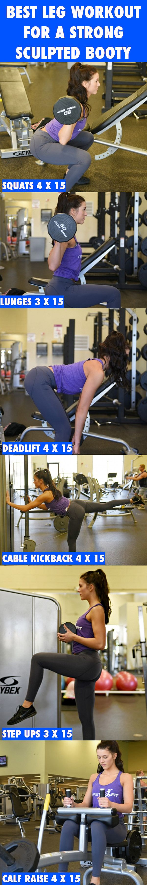 Use this awesome workout to build strong, sculpted legs while increasing your metabolism. http://blog.imprettyfit.com/workouts/best-leg-workout-for-strong-and-sculpted-legs/  Leg Workout