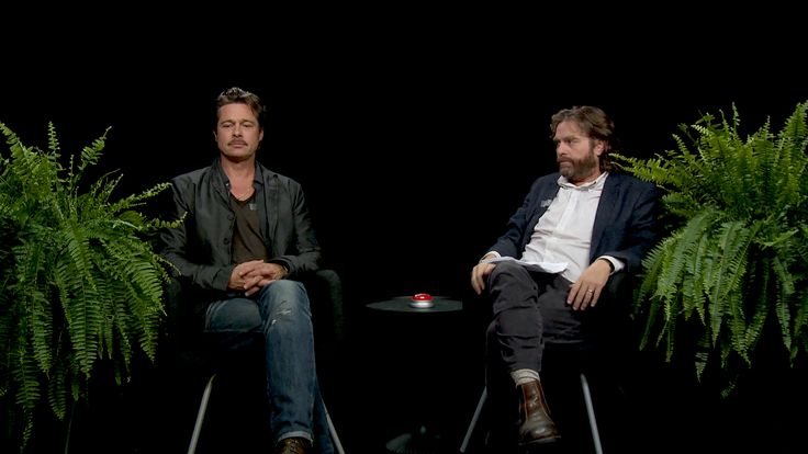 Brad Pitt Spits Gum at Zach Galifianakis During an Interview on 'Between Two Ferns'