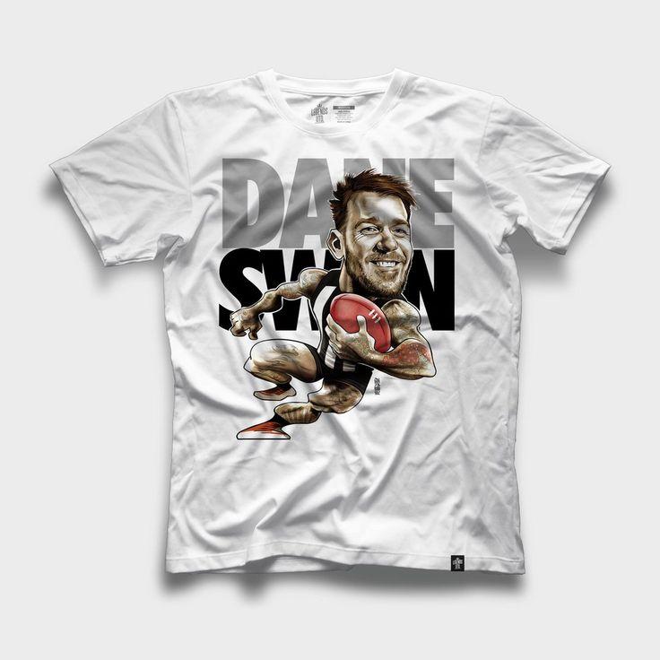 Dane Swan Collingwood Magpies Caricature T-Shirt