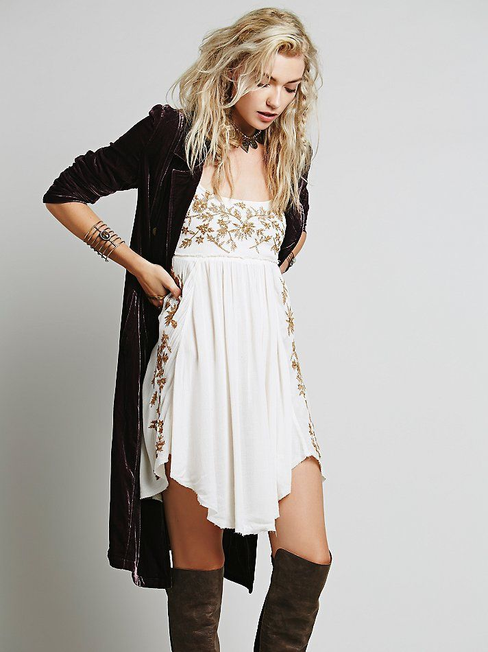 Embroidered Babydoll Slip   Sweet Style O' Mine
